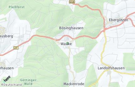 Stadtplan Waake