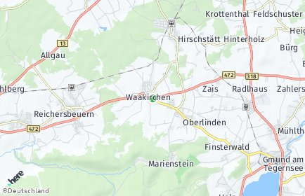 Stadtplan Waakirchen
