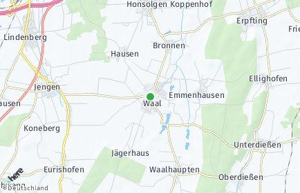 Stadtplan Waal