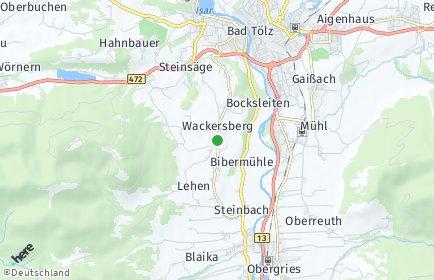 Stadtplan Wackersberg