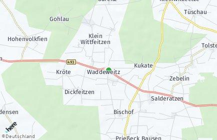 Stadtplan Waddeweitz