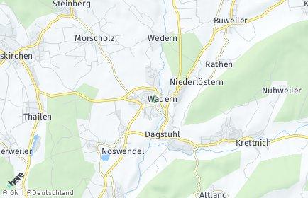 Stadtplan Wadern