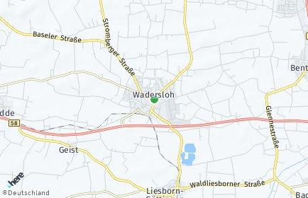 Stadtplan Wadersloh