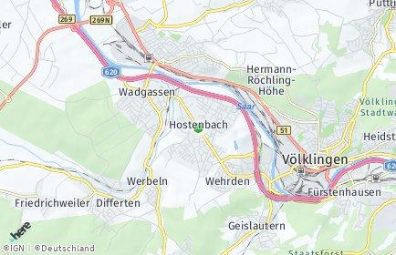 Stadtplan Wadgassen