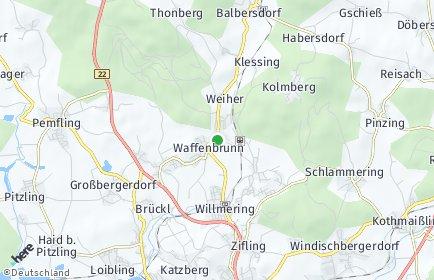 Stadtplan Waffenbrunn OT Balbersdorf
