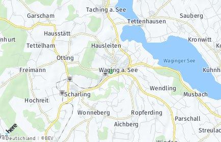 Stadtplan Waging am See