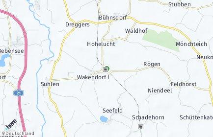 Stadtplan Wakendorf I