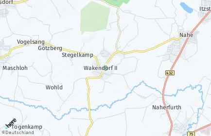 Stadtplan Wakendorf bei Henstedt-Ulzburg