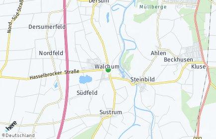 Stadtplan Walchum