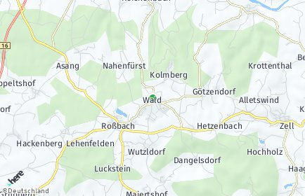 Stadtplan Wald (Oberpfalz) OT Wald