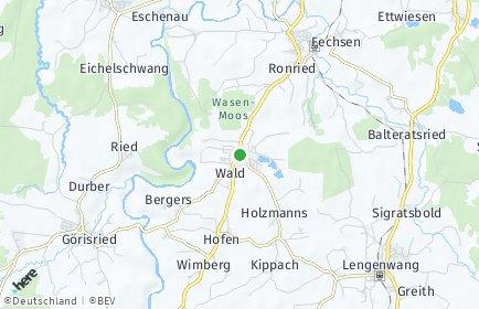 Stadtplan Wald (Allgäu)