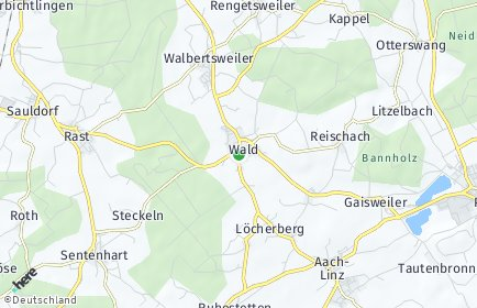 Stadtplan Wald (Hohenzollern)