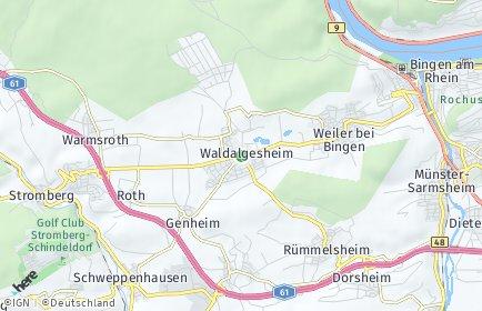 Stadtplan Waldalgesheim