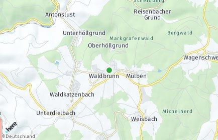 Stadtplan Waldbrunn (Odenwald)