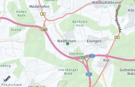 Stadtplan Waldbrunn (Unterfranken)