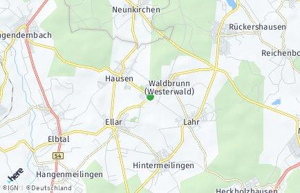 Stadtplan Waldbrunn (Westerwald)
