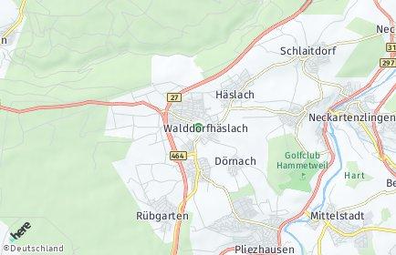 Stadtplan Walddorfhäslach