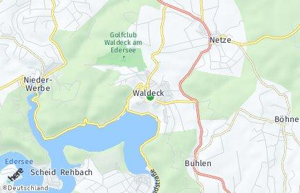 Stadtplan Waldeck OT Ober-Werbe