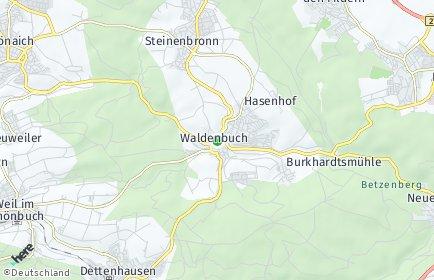 Stadtplan Waldenbuch