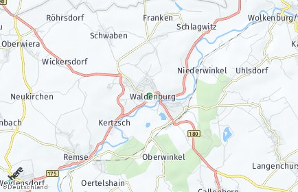 Stadtplan Waldenburg