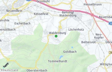 Stadtplan Waldenburg (Württemberg)