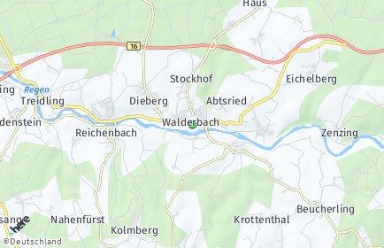 Stadtplan Walderbach