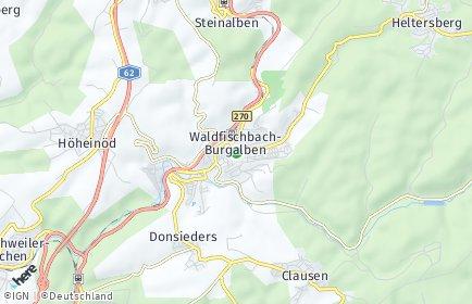 Stadtplan Waldfischbach-Burgalben