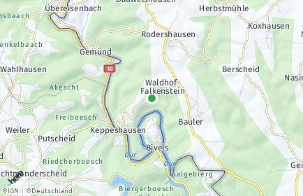 Stadtplan Waldhof-Falkenstein