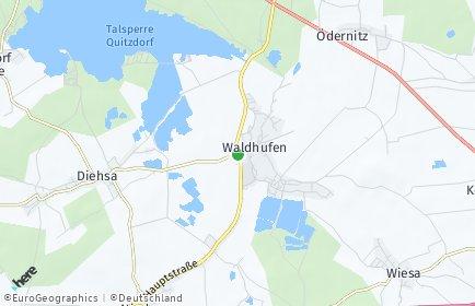 Stadtplan Waldhufen