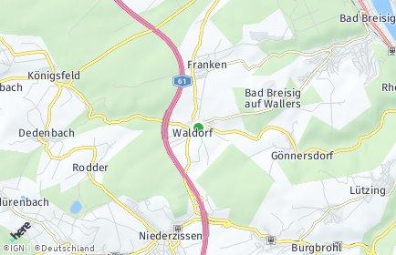 Stadtplan Waldorf
