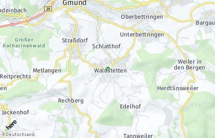 Stadtplan Waldstetten (Ostalbkreis)