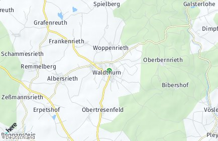 Stadtplan Waldthurn