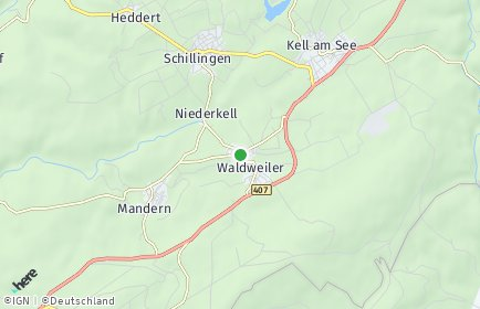 Stadtplan Waldweiler