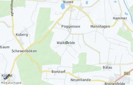 Stadtplan Walksfelde