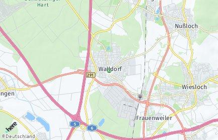 Stadtplan Walldorf (Baden)