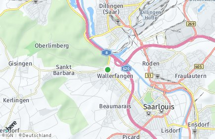 Stadtplan Wallerfangen