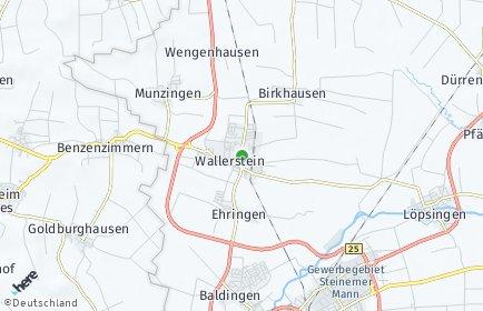 Stadtplan Wallerstein