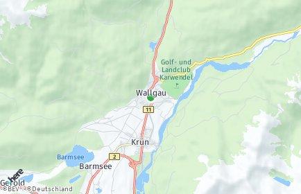Stadtplan Wallgau