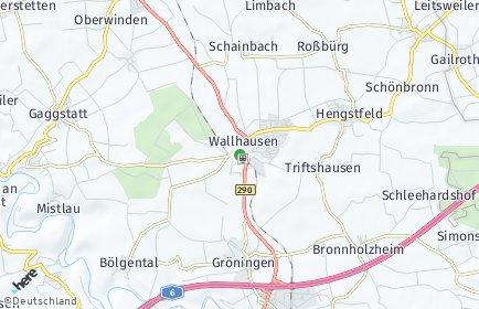 Stadtplan Wallhausen (Württemberg)