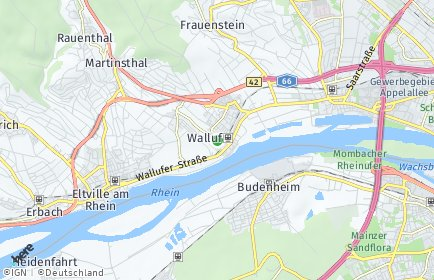 Stadtplan Walluf