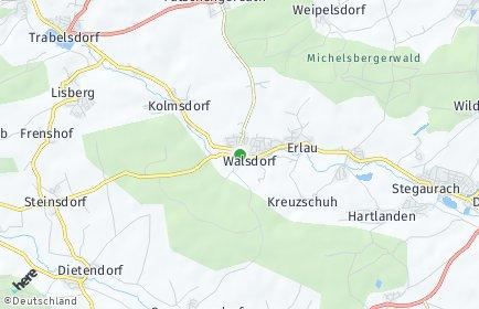 Stadtplan Walsdorf (Oberfranken)