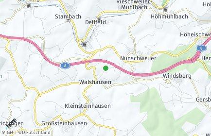 Stadtplan Walshausen bei Zweibrücken