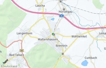 Stadtplan Waltershausen