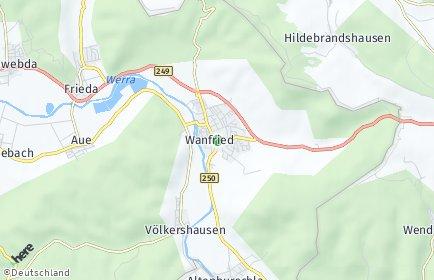 Stadtplan Wanfried