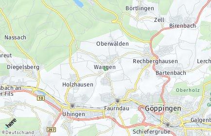 Stadtplan Wangen (Kreis Göppingen)