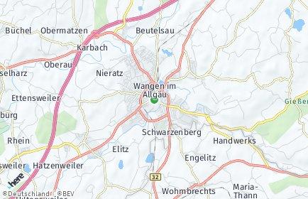 Stadtplan Wangen im Allgäu