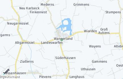 Stadtplan Wangerland
