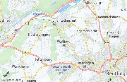 Stadtplan Wannweil