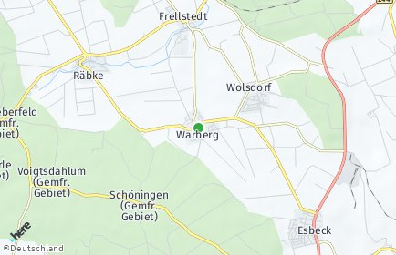 Stadtplan Warberg