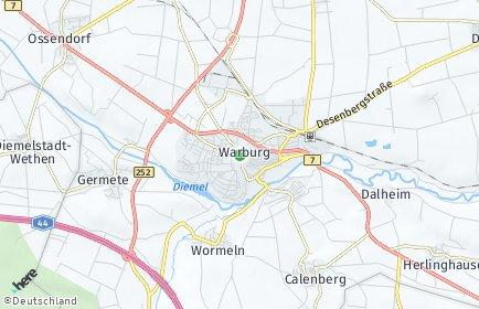 Stadtplan Warburg